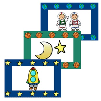 Behavior Management Punch Cards- Outer Space