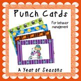 Punch Cards for Behavior Management- Seasons Bundle
