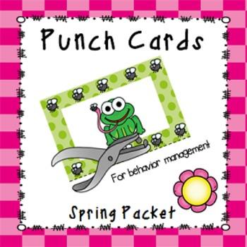 Behavior Management Punch Cards- Spring