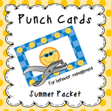 Behavior Management Punch Cards- Summer Freebie