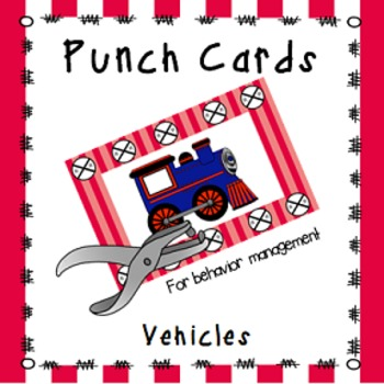 Behavior Management Punch Cards- Vehicles