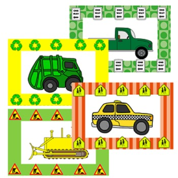 Behavior Management Punch Cards- Vehicles