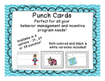 Punch Cards for Behavior Management and Incentive Programs