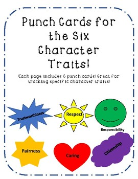 Punch Cards for Character Behavior