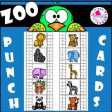 Punch Cards Zoo Animals