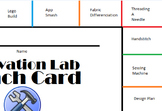 Punch Cards for Innovation, Fab Lab, Makerspace, STEM, STEAM