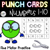 Punch Cards for Numbers 1 to 10