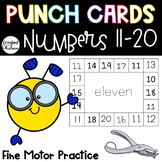 Punch Cards for Numbers 11 to 20