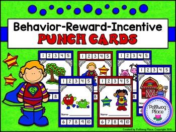 Punch Cards for Positive Behavior, Rewards, or Incentives