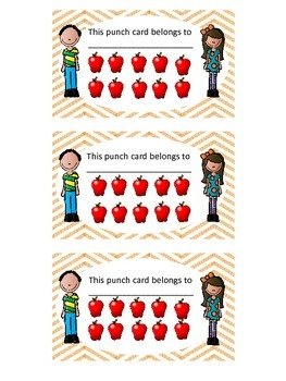 Punch Cards for Positive Reinforcement
