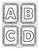 Punch Cards for Practicing Letter Recognition - Uppercase