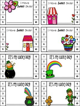 Punch Cards for Homework / Behavior Reinforcement / Rewards FOR EVERY SEASON