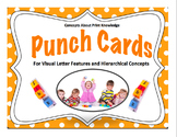 Punch Cards for Visual Letter Features and Hierarchical Concepts