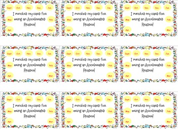 Punch Cards for use with Accelerated Reading