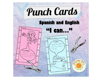 Punch Cards in Spanish and English - For Rewards and Behavior Management