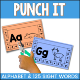 Punch It Alphabet Fine Motor Skills Activities