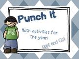 Punch It - Math (A Print and Go Year-long Math Center)