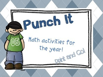 Punch It - Math (A Print and Go Year-long Math Center)