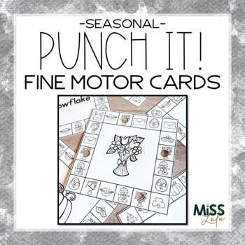 Punch It! Seasonal Fine Motor Cards