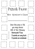 Punch Pass Incentives Card