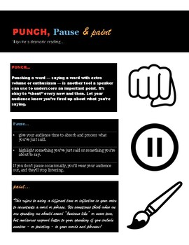 Punch! Pause and Paint - Tips for Dramatic Readings.