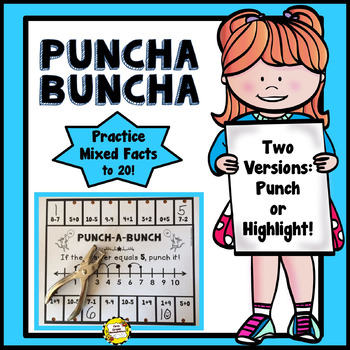 Punch-a-Bunch: Mixed Addition & Subtraction Facts to 20