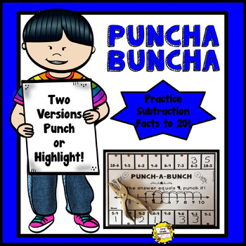 Punch-a-Bunch: Subtraction Facts to 20