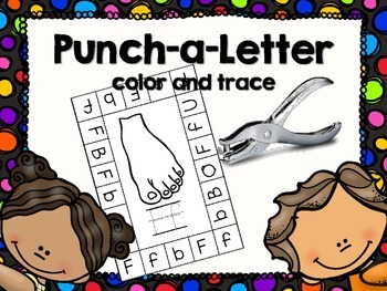 Punch-a-Letter hole punch activity