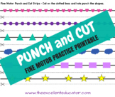 Punch and Cut Fine Motor Practice Printable