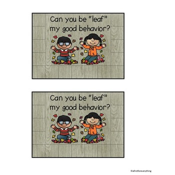 Behavior Management Reward Cards