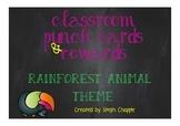 Punch cards & reward system - Rainforest animal theme
