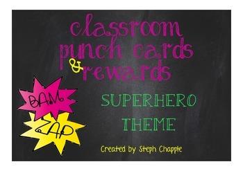 Punch cards & reward system - Superhero theme