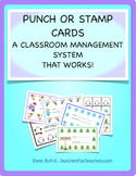 Punch or Stamp Cards Class Management