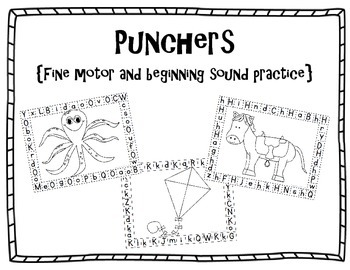 Punchers {A fine motor and Beginning Sounds Activity}