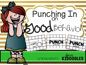 Punching In on Good Behavior {Punch Cards}