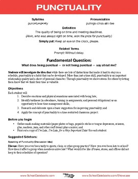 Punctuality Character Lesson Plan