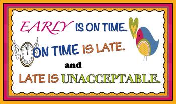 Punctuality Classroom/Door Poster