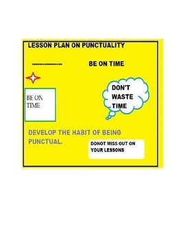 Punctuality Lesson Plan