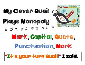 Punctuate Quotations/Dialogue: Anchor Chart