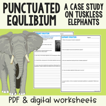 Punctuated Equilibrium vs. Gradualism: Tuskless Elephants