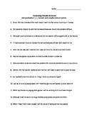 Punctuating Complex Sentences Worksheet