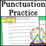 Punctuation Sentences & Writing Prompt