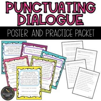 Punctuating Dialogue Worksheet Teaching Resources Teachers Pay
