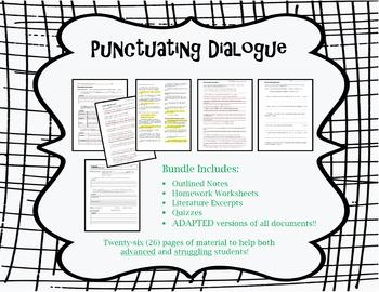 Punctuating Dialogue Bundle