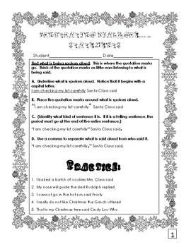 Punctuating Dialogue  (Christmas Activity)