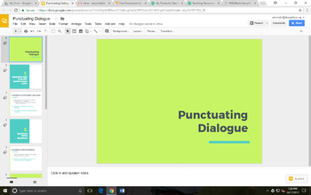 Punctuating Dialogue Google Slides Presentation