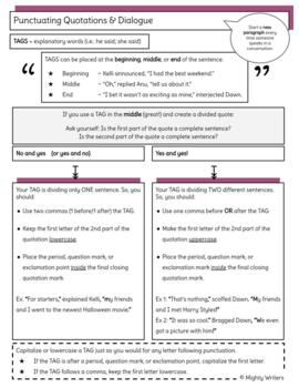 Punctuating Dialogue Notes