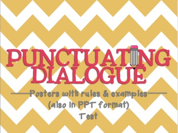 Punctuating Dialogue - PPT, Posters, & Quiz