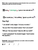Punctuating Dialogue Packet -Perfect for September or June