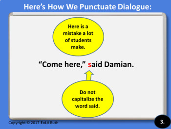 Punctuating Dialogue Reminder for Google Slides